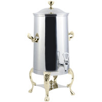 Bon Chef 47003-1 Renaissance 3 Gallon Insulated Stainless Steel Coffee Chafer Urn with Brass Trim