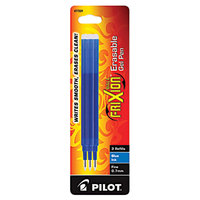 Pilot 77331 FriXion Blue Ink Fine Point Erasable Retractable Roller Ball Gel Pen Refill - 3/Pack