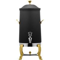 Bon Chef 40003-NERO Aurora 3 Gallon Insulated Nero Finish Stainless Steel Coffee Chafer Urn with Brass Trim