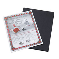 Pacon 103607 Riverside 9 inch x 12 inch Black Pack of 76# Construction Paper - 50/Sheets