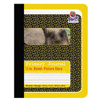 Pacon 2426 7 1/2 inch x 9 3/4 inch Yellow Elephant 1/2 inch Ruling 15# Composition Book