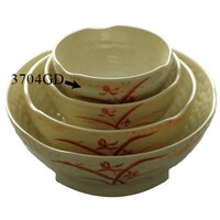 Gold Orchid 10 oz. Round Melamine Wave Rice Bowl - 12/Case