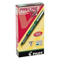 Pilot 25104 Precise V5 Green Ink with Green Barrel 0.5mm Roller Ball Stick Pen - 12/Pack