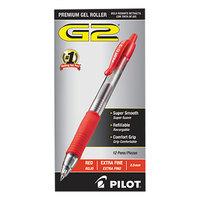 Pilot 31004 G2 Premium Red Ink with Translucent Barrel 0.5mm Roller Ball Retractable Gel Pen   - 12/Pack