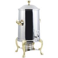 Bon Chef 47105-1 Renaissance 5.5 Gallon Stainless Steel Coffee Chafer Urn with Brass Trim
