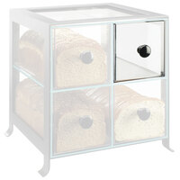 Cal-Mil 1586-13DRAWER Soho Clear Drawer with Black Knob