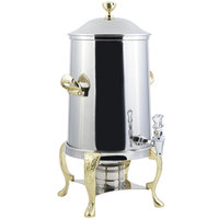 Bon Chef 47105 Renaissance 5.5 Gallon Stainless Steel Coffee Chafer Urn with Brass Trim