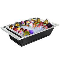 Eastern Tabletop 9050MB Black Coated Stainless Steel Double Wall Beverage Tub - 18 1/2 x 16 1/2 inch x 6 inch