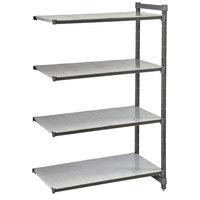 Cambro CBA243072S4580 Camshelving Basics Plus Solid 4-Shelf Add On Unit - 24 inch x 30 inch x 72 inch