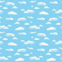 Pacon 56465 Fadeless Designs 48 inch x 50' Clouds 50# Paper Roll