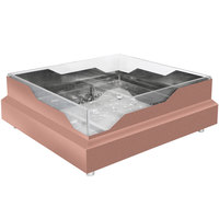 Eastern Tabletop RB2323CP 20 3/4 inch x 20 3/4 inch x 5 inch Square Copper Coated Stainless Steel Raw Bar with Wave Design