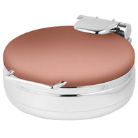 Eastern Tabletop 3999CP Jazz Rock 4 Qt. Round Copper Coated Stainless Steel Induction Chafer with Hinged Dome Cover