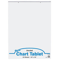 Pacon 74510 24 inch x 32 inch White Unruled Chart Tablet