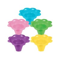 8 oz. Assorted Color Flower-Shaped Sno-Cone Cup - 600/Case