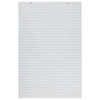 Pacon 3052 24 inch x 36 inch White Primary Short Chart Pad with 1 inch Ruled Lines
