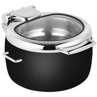 Eastern Tabletop 39811GMB Jazz Rock 11 Qt. Copper Coated Stainless Steel Induction Soup Marmite with Hinged Glass Lid