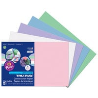 Pacon 6569 Tru-Ray 12 inch x 18 inch Assorted Pastel Color Pack of 76# Construction Paper - 50/Sheets