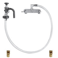 Fisher 2321 Backsplash Mounted Hose Pot Filler with 8 inch Centers, 72 inch Hose, Elbows, and Swivel Elbow