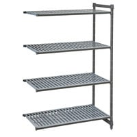 Cambro CBA183684V4580 Camshelving® Basics Plus Vented 4-Shelf Add On Unit - 18 inch x 36 inch x 84 inch