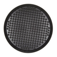 HS Inc. HS1035 13 inch Charcoal Polypropylene Pizza Pleezer Pizza Tray - 12/Case