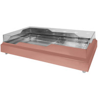 Eastern Tabletop RB3620CP 36 1/2 inch x 20 3/4 inch x 5 inch Rectangular Copper Coated Stainless Steel Raw Bar with Wave Design