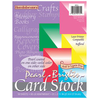 Pacon 109131 8 1/2 inch x 11 inch Assorted Pearl Bright Color Pack of 65# Card Stock - 50 Sheets