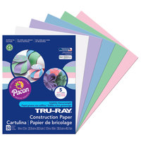 Pacon 6568 Tru-Ray 9 inch x 12 inch Assorted Pastel Color Pack of 76# Construction Paper - 50/Sheets