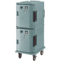 Cambro UPCH8002401 Ultra Camcart® Slate Blue Electric Hot Food Holding Cabinet in Fahrenheit - 220V