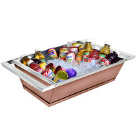 Eastern Tabletop 9050CP Copper Coated Stainless Steel Double Wall Beverage Tub - 18 1/2 x 16 1/2 inch x 6 inch