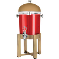 Eastern Tabletop 7522RZ P2 2 Gallon Bronze Coated Stainless Steel Beverage Dispenser with Acrylic Container and Ice Core