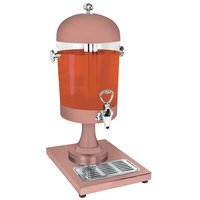 Eastern Tabletop 7502CP Park Avenue 2 Gallon Copper Coated Stainless Steel Beverage Dispenser with Acrylic Container and Ice Core