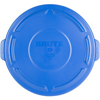 Rubbermaid FG263100BLUE BRUTE Blue 32 Gallon Trash Can Lid