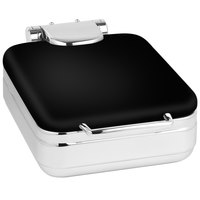 Eastern Tabletop 3997MB Jazz Rock 4 Qt. Square Black Coated Stainless Steel Induction Chafer with Hinged Dome Cover