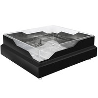 Eastern Tabletop RB2323MB 20 3/4 inch x 20 3/4 inch x 5 inch Square Black Coated Stainless Steel Raw Bar with Wave Design