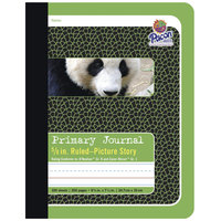 Pacon 2428 7 1/2 inch x 9 3/4 inch Green Panda 5/8 inch Ruling 15# Composition Book