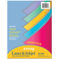 Pacon 101346 Array 8 1/2 inch x 11 inch Assorted Designer Color Ream of 24# Multi-Purpose Paper - 500/Sheets