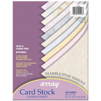 Pacon 101196 Array 8 1/2 inch x 11 inch Assorted Marble and Parchment Color Pack of 65# Card Stock - 250/Pack