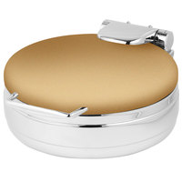 Eastern Tabletop 3999RZ Jazz Rock 4 Qt. Round Bronze Coated Stainless Steel Induction Chafer with Hinged Dome Cover