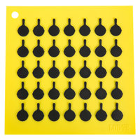Lodge AS7S21 6 7/8 inch x 6 7/8 inch Yellow Silicone Trivet