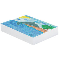 Pacon 3409 12 inch x 18 inch White Pack of 30# Smooth Unruled Newsprint Paper - 500/sheets