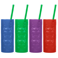 22 oz. Tiki Tropical Cup with Straw   - 80/Case