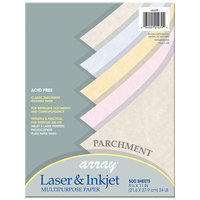 Pacon 101079 Array 8 1/2 inch x 11 inch Assorted Parchment Color Ream of 24# Multi-Purpose Paper - 500/Sheets