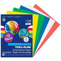 Pacon 6572 Tru-Ray 9 inch x 12 inch Assorted Primary Color Pack of 76# Construction Paper - 50/Sheets