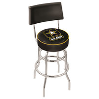 Holland Bar Stool L7C430Army United States Army Double Ring Swivel Stool with Padded Back and Seat