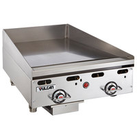 Vulcan MSA24-C0100P 24 inch Countertop Liquid Propane Griddle with Rapid Recovery Plate and Piezo Ignition - 54,000 BTU