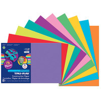 Pacon 102941 Tru-Ray 12 inch x 18 inch Assorted Bright Color Pack of 76# Construction Paper - 50/Sheets