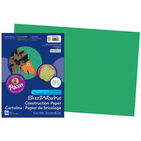 SunWorks 8007 12 inch x 18 inch Holiday Green Pack of 58# Construction Paper - 50/Sheets