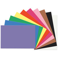 SunWorks 6523 24 inch x 36 inch Assorted Color Pack of 58# Construction Paper - 50 Sheets