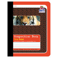 Pacon 2427 7 1/2 inch x 9 3/4 inch Red Tiger 5/8 inch Ruling 15# Composition Book