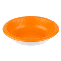 Creative Converting 173282 20 oz. Sunkissed Orange Paper Bowl - 200/Case
